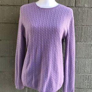 Anne Klein sport 100% cashmere lavender sweater.